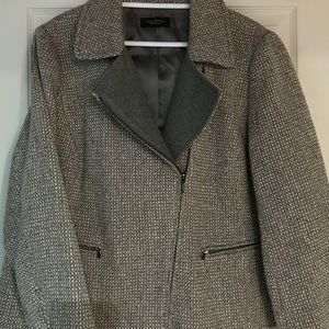 Talbots Gorgeous grey tweed jacket